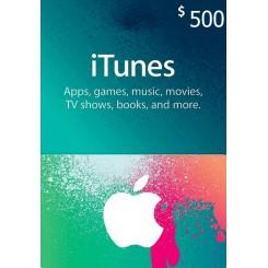 گیفت کارت 500 دلاری آیتونز امریکا