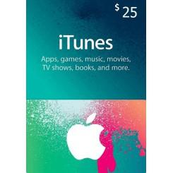 گیفت کارت 25 دلاری آیتونز امریکا