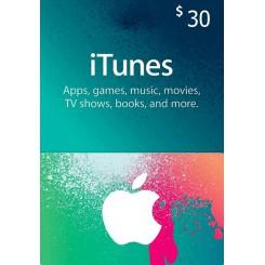 گیفت کارت 30 دلاری آیتونز امریکا