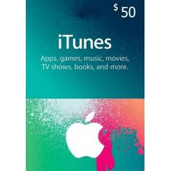 گیفت کارت 50 دلاری آیتونز امریکا