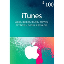 گیفت کارت 100 دلاری آیتونز امریکا ( دو عدد 50 دلاری )