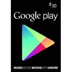 گیفت کارت 30 دلاری گوگل استرالیا