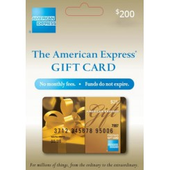 گیفت کارت امریکن اکسپرس 200 دلاری