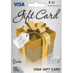 گیفت کارت ویزا 50 دلاری امریکا