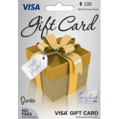 گیفت کارت ویزا 100 دلاری امریکا